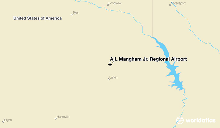 Lufkin (TX) United States  City pictures : Location of A L Mangham Jr. Regional Airport on a map.