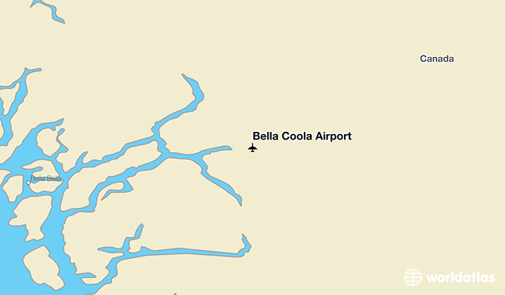 Bella Coola Map Bella Coola Airport (QBC)   WorldAtlas