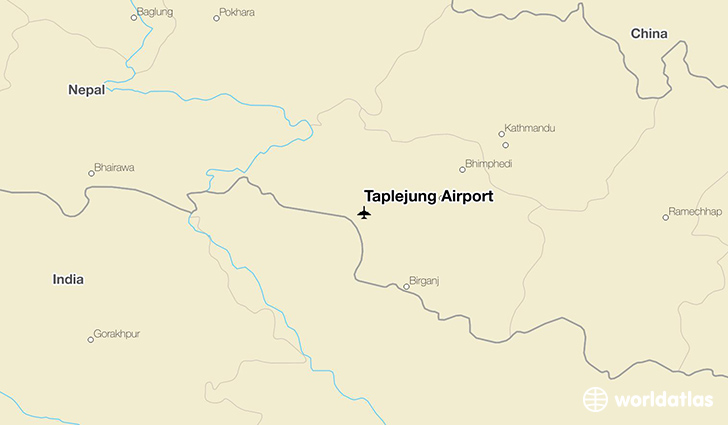 Taplejung Airport location on a map