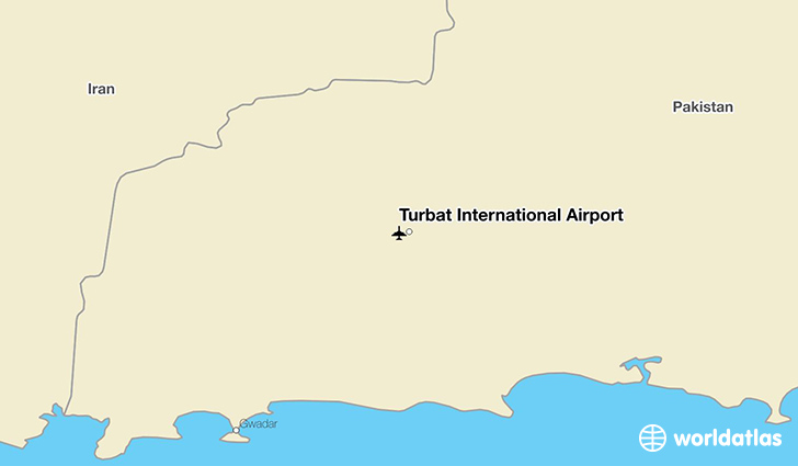 Turbat International Airport location on a map