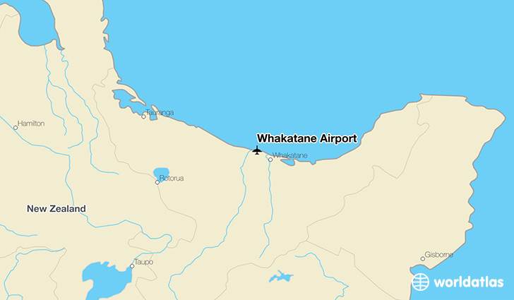 Whakatane Airport location on a map
