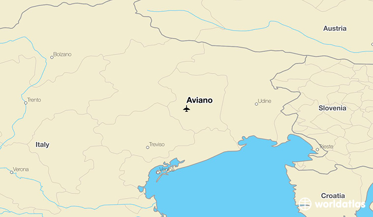 Aviano location on a map