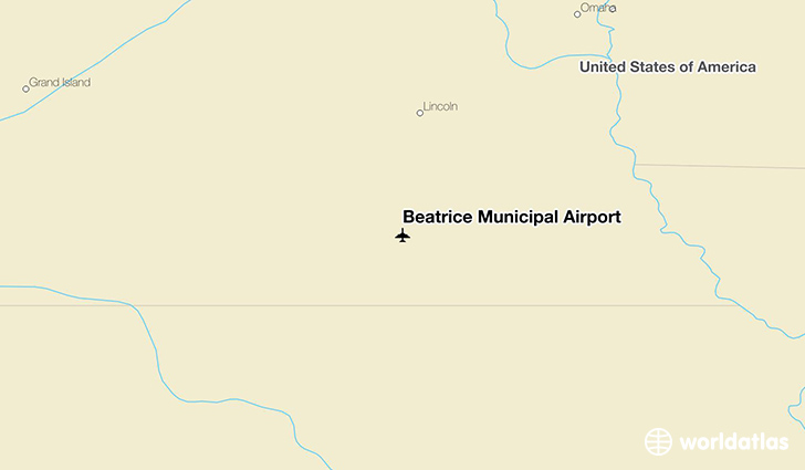 Beatrice Municipal Airport location on a map