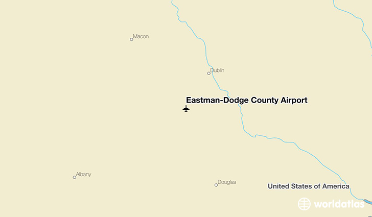 Eastman-Dodge County Airport location on a map