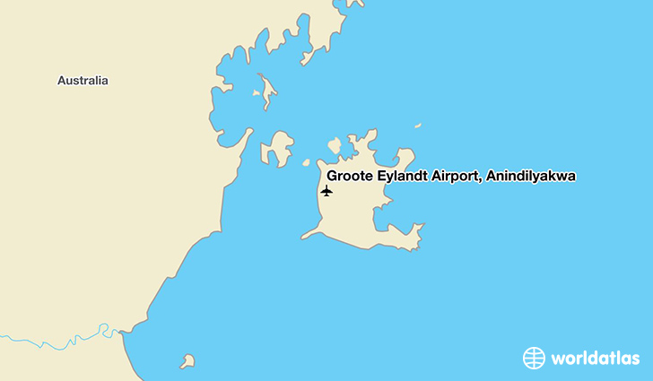 Groote Eylandt Airport, Anindilyakwa location on a map