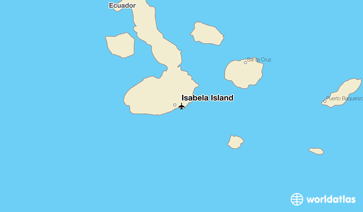 Isabela Island location on a map
