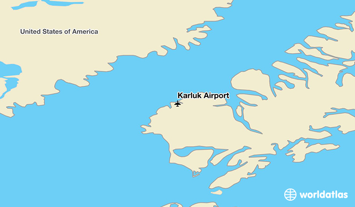 Karluk Airport location on a map