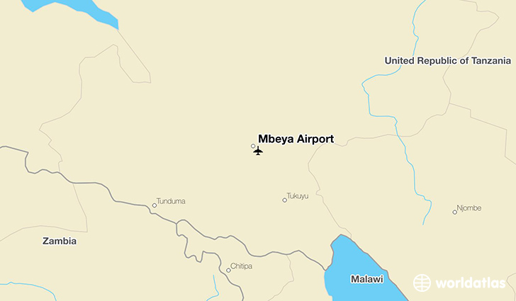 Mbeya Airport location on a map
