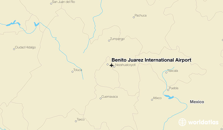 Benito Juárez International Airport location on a map