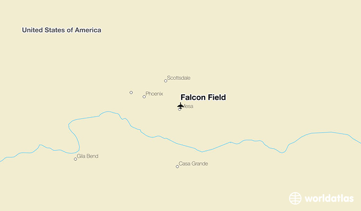 Falcon Field location on a map