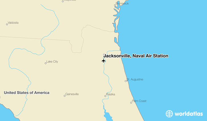 Jacksonville, Naval Air Station location on a map
