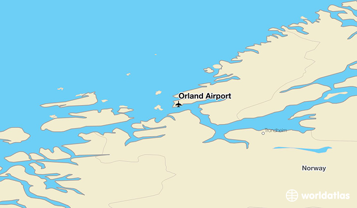 Ørland Airport location on a map