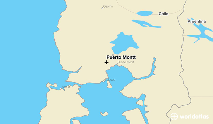 Puerto Montt location on a map
