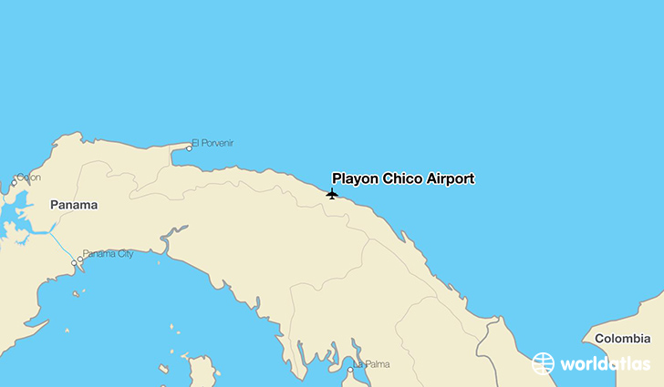 Playón Chico Airport location on a map