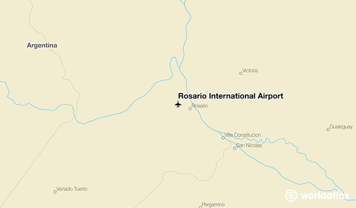 Rosario International Airport location on a map