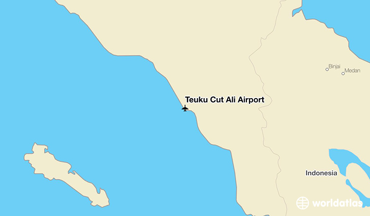 Teuku Cut Ali Airport location on a map