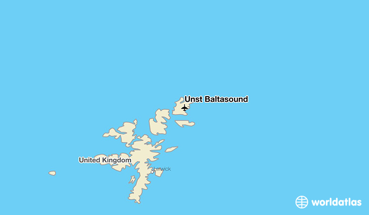 Unst Baltasound location on a map