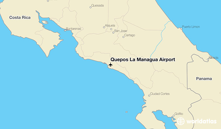 Quepos La Managua Airport (XQP) - WorldAtlas on tegucigalpa on map, montevideo on map, mbabane on map, makassar on map, taegu on map, cayman islands on map, panama on map, valledupar on map, havana on map, kampala on map, kingston on map, cancun on map, toronto on map, san juan on map, libreville on map, rio de janeiro on map, santiago on map, santo domingo on map, bogota on map, nassau on map,
