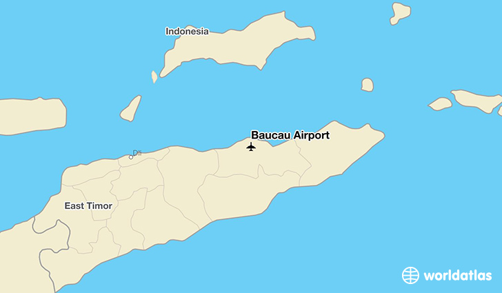 Baucau Airport location on a map