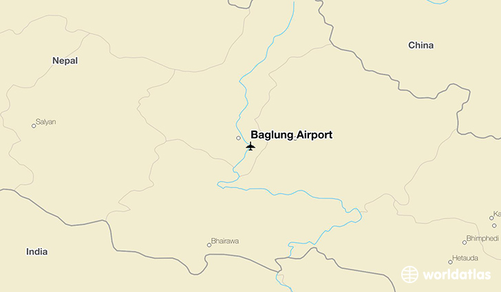 Baglung Airport location on a map