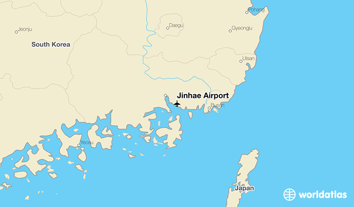 Jinhae Airport location on a map