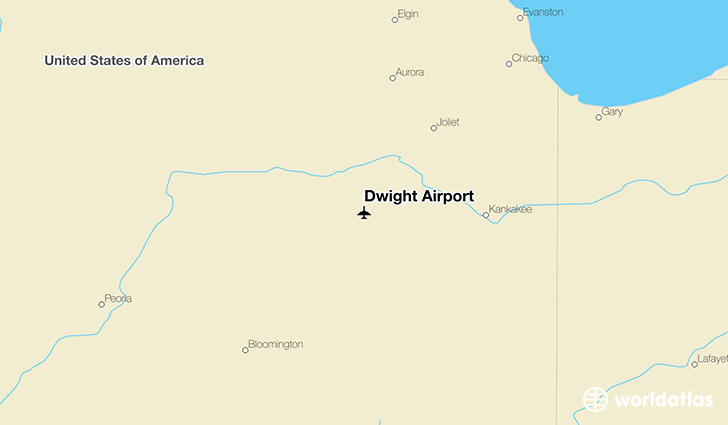 Dwight Airport location on a map