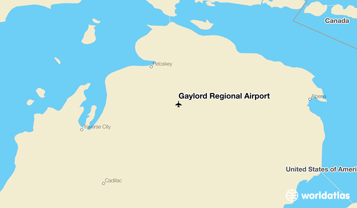 Gaylord Regional Airport location on a map