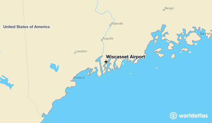 Wiscasset Airport location on a map