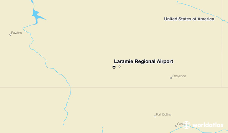 Laramie Regional Airport location on a map