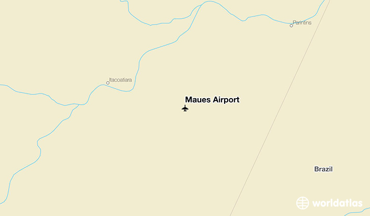 Maués Airport location on a map