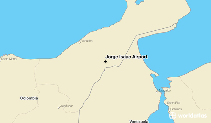 Jorge Isaac Airport location on a map