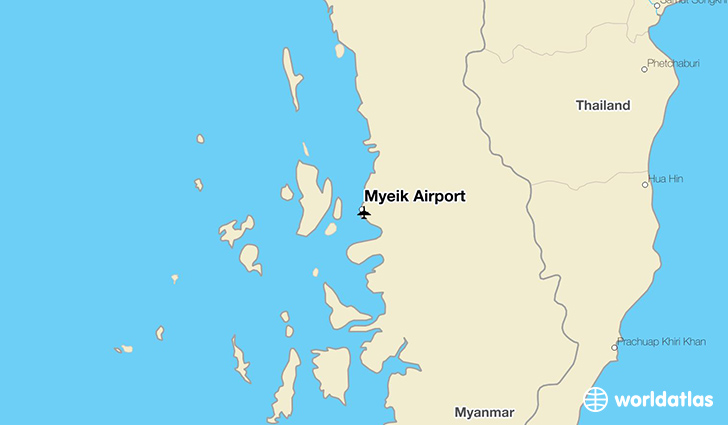Myeik Airport location on a map