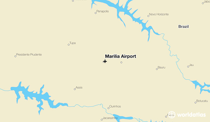 Marília Airport location on a map