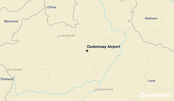 Oudomsay Airport location on a map