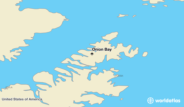 Onion Bay location on a map