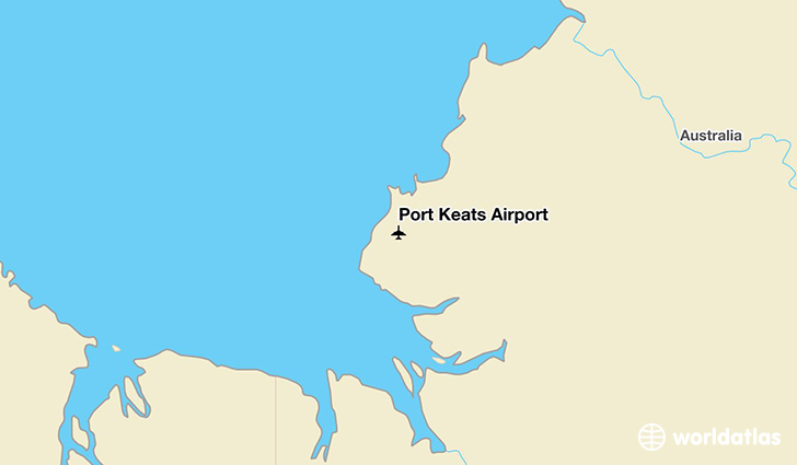 Port Keats Airport location on a map