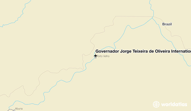Governador Jorge Teixeira de Oliveira International Airport location on a map