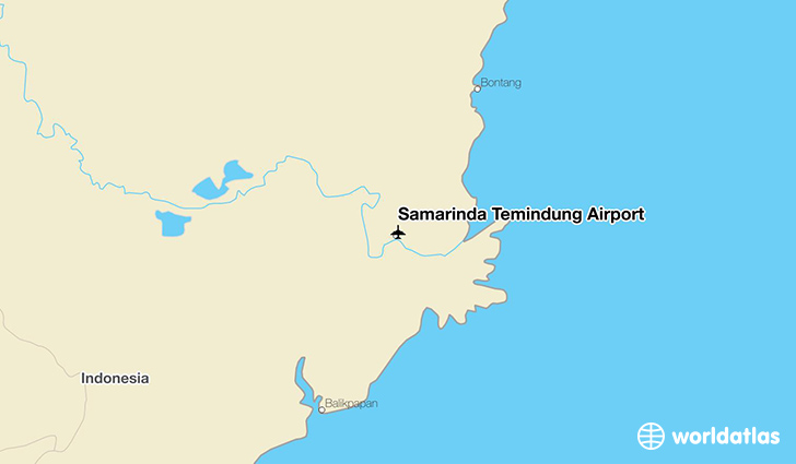 Samarinda Temindung Airport location on a map