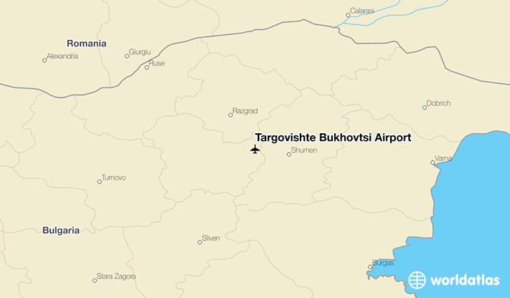 Targovishte Bukhovtsi Airport location on a map