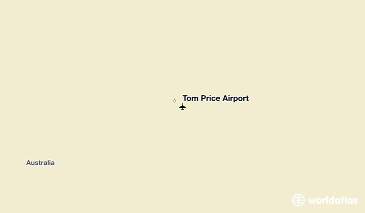 Tom Price Airport location on a map