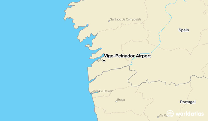 Vigo-Peinador Airport location on a map