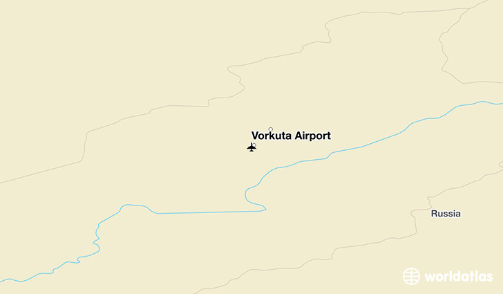 Vorkuta Airport location on a map