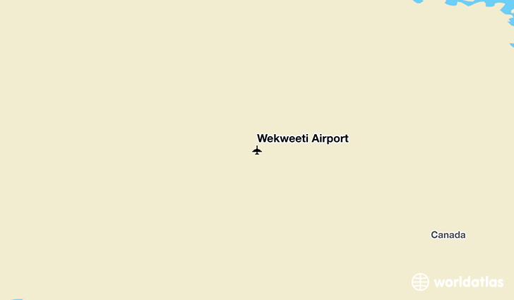 Wekweètì Airport location on a map