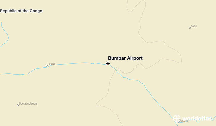 Bumbar Airport location on a map