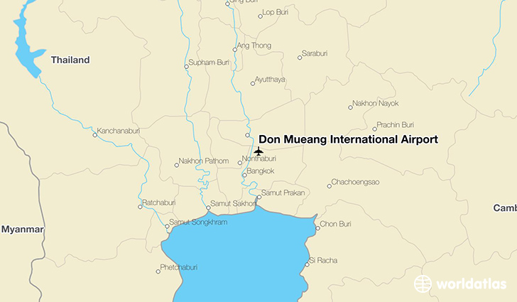 Don Mueang International Airport location on a map