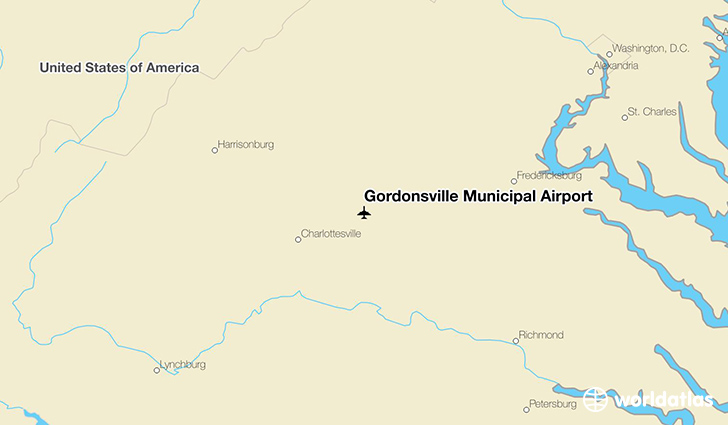 Gordonsville Municipal Airport location on a map