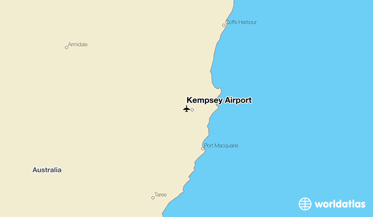 Kempsey Airport location on a map