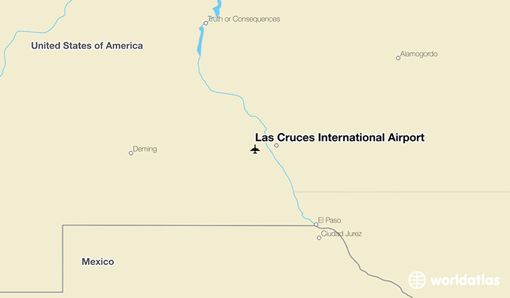 Las Cruces International Airport location on a map