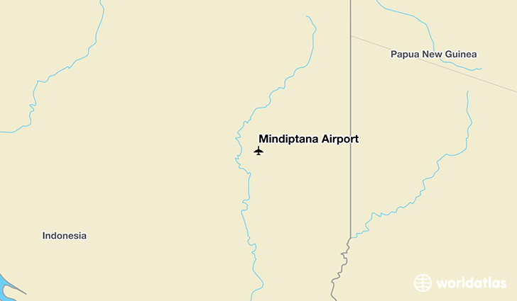 Mindiptana Airport location on a map