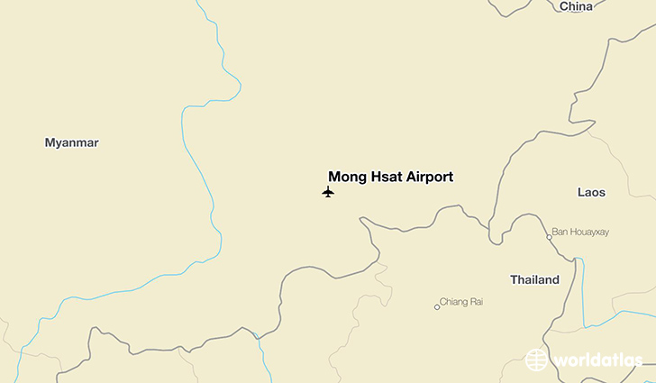 Mong Hsat Airport location on a map